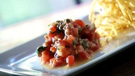 Tartare de tomates fraîches - Recettes - À la di Stasio