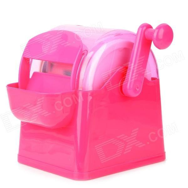 DIY Manual Ice Cream Machine - Deep Pink