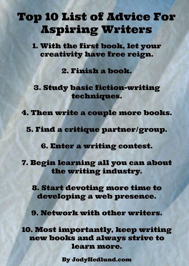 Authors Share Their Best Writing Advice