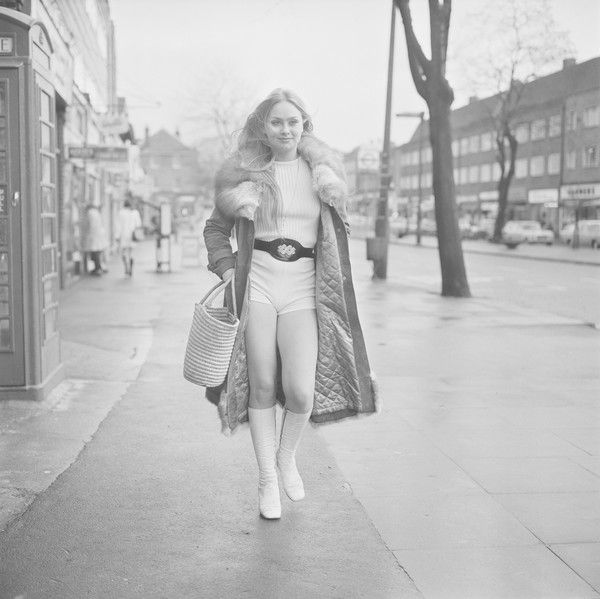English actress Linda Hayden, the day after her 18th birthday, UK, 20th January…