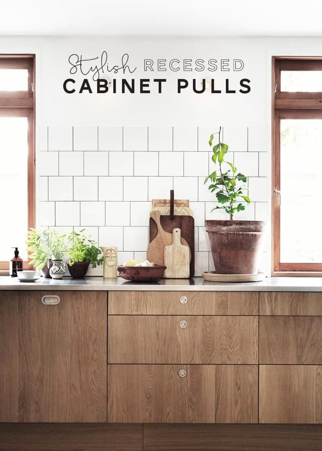 Remodeling Resources: Stylish Recessed Cabinet Pulls   Apartment Therapy