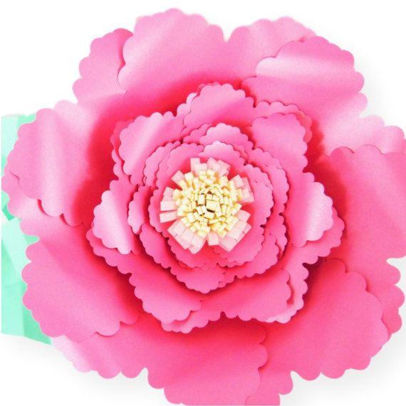 plantillas de flores de papel gigantes diy de papel flores svg flor cortar archivos plantillas de flores grandes para imprimir como hacer flores de