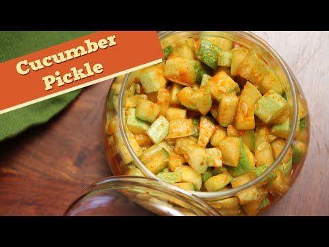 Cucumber Pickle | Instant Indian Pickle Recipe | Divine Taste With Anushruti - YouTube