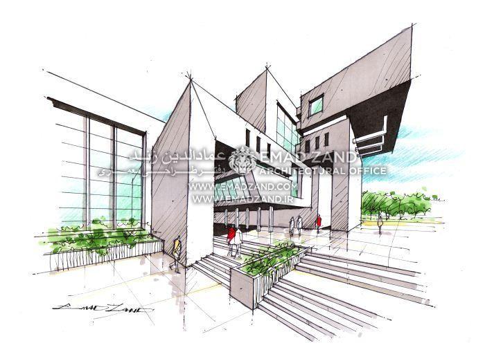 Emad Zand Architecture sketching