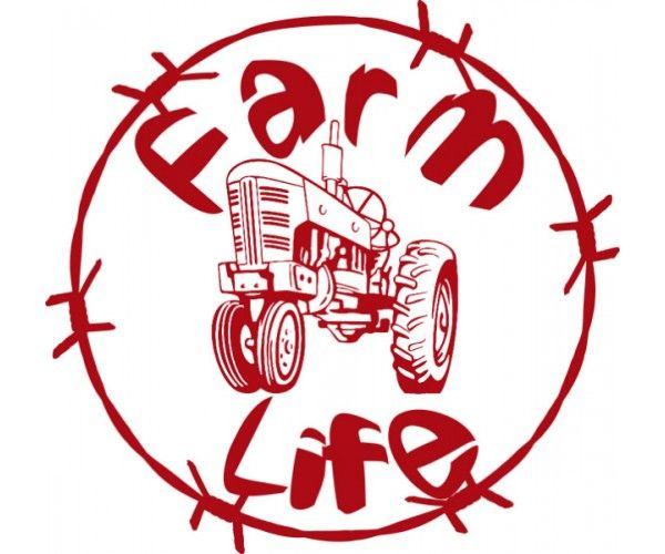 Farm life decal