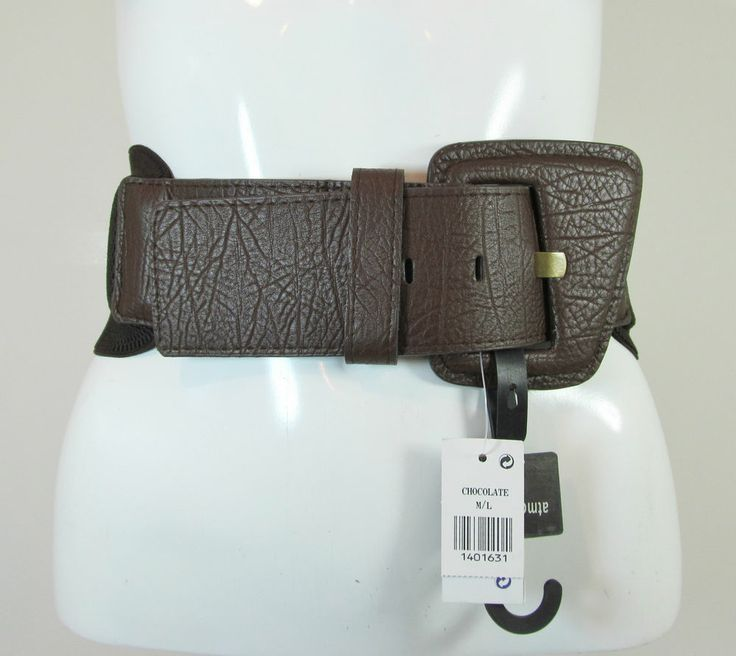 Brown chocolate elasticated wide waist belt fashion belt size M/L R12065A