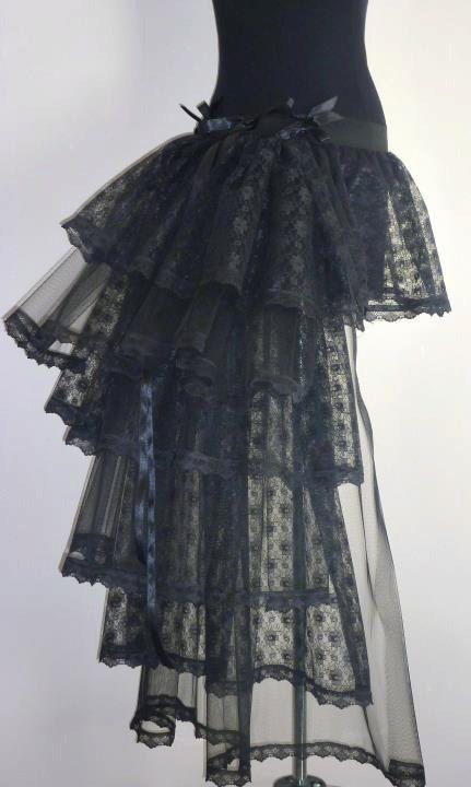 Black Burlesque Moulin Rouge Busle Skirt by thetutustoreuk on Etsy, $60.00