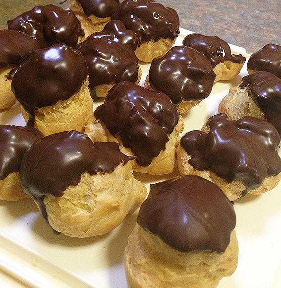 My Italian Kitchen by Laura Cassai. 'Profiteroles with orange cinnamon ricotta'. Laura says instead of using custard she likes to use ricotta with orange and cinnamon, a traditional Sicilian combination.