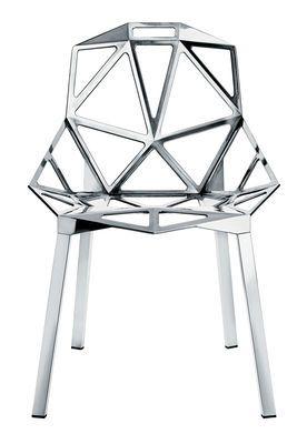Chair One Stapelbarer Stuhl Variante poliertes Aluminium – Magis