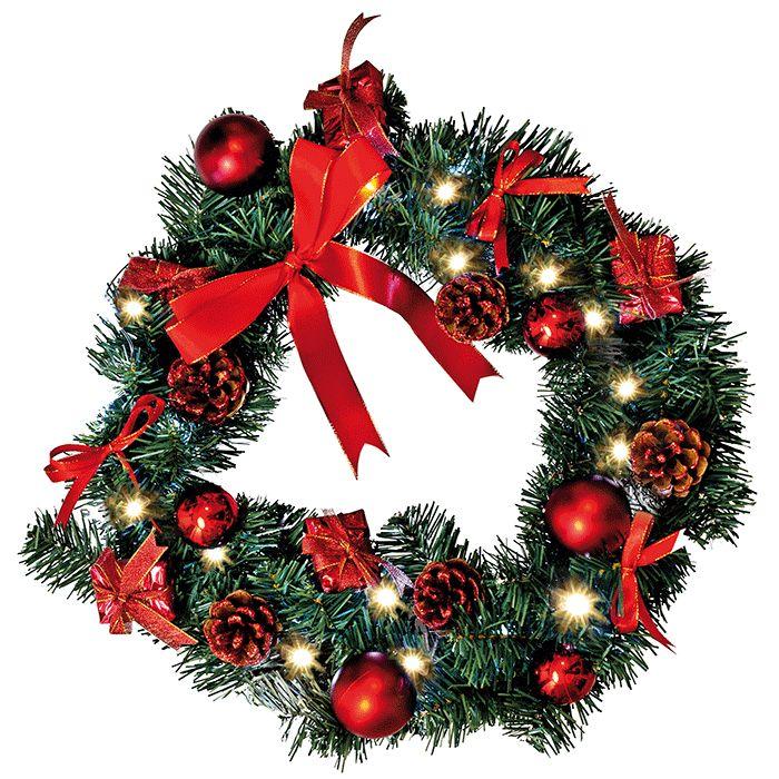 Deco Wreath Krans 20 LED Rød - Juletrær & Girlander - Innendørs Julebelysning - Julebelysning - Innebelysning | Designbelysning.no