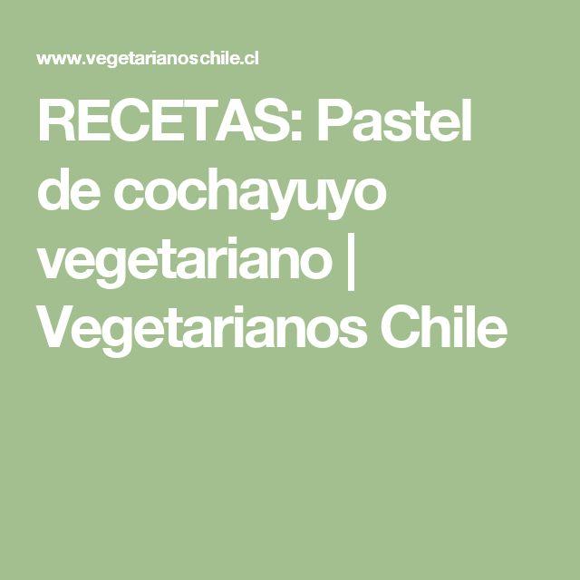 RECETAS: Pastel de cochayuyo vegetariano | Vegetarianos Chile