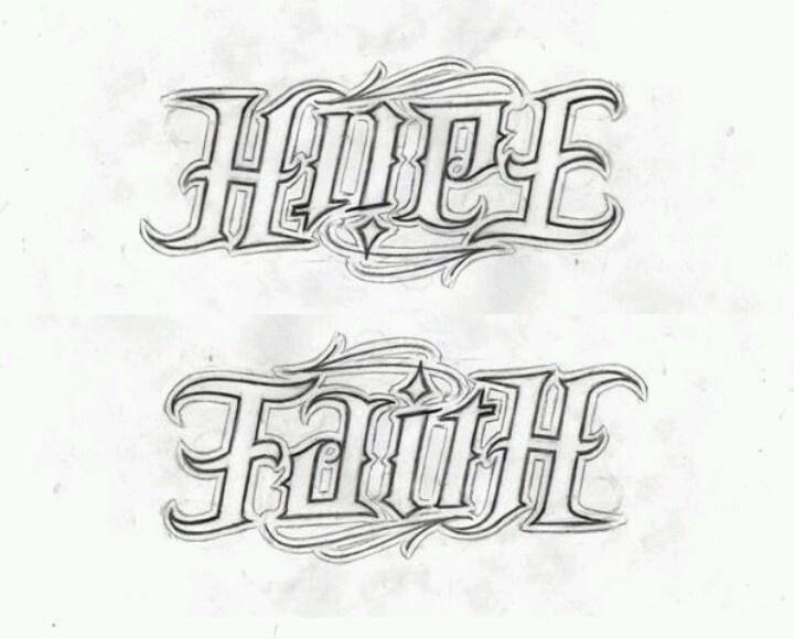 Faith Hope tattoo