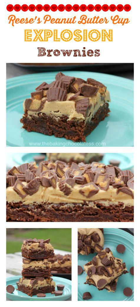 Reese's Peanut Butter Cup Explosion Brownies – The Baking ChocolaTess