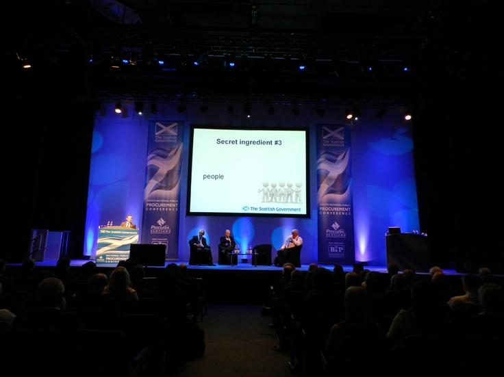 Alastair Merrill reveals some secrets of success at the Scottish Government National Public Procurement Conference during Procurex Scotland 2012!