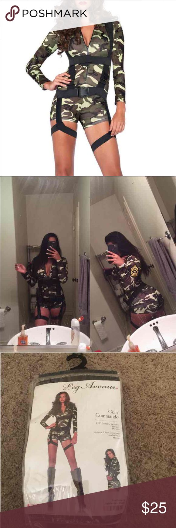 army girl costume army girl Halloween costume includes romper and harness only tried on super cute but got another costume leg avenue Other