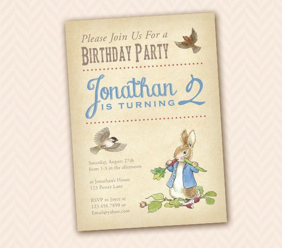 17 parasta ideaa Beatrix Potter Birthday Party Pinterestiss – Beatrix Potter Birthday Invitations