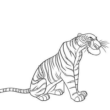 jungle book tiger coloring pages - photo#3