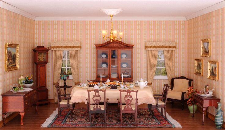 Das Esszimmer im Chippendale Stil, eingerichtet mit - chippendale wohnzimmer weis