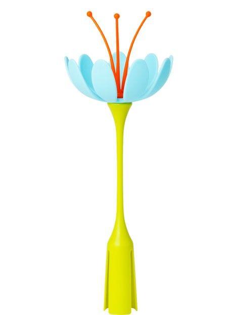 Stem, il fiore da abbinare al tappeto scolaposate di Boon, utile per l'asciugatura di ciucci e piccoli accessori.