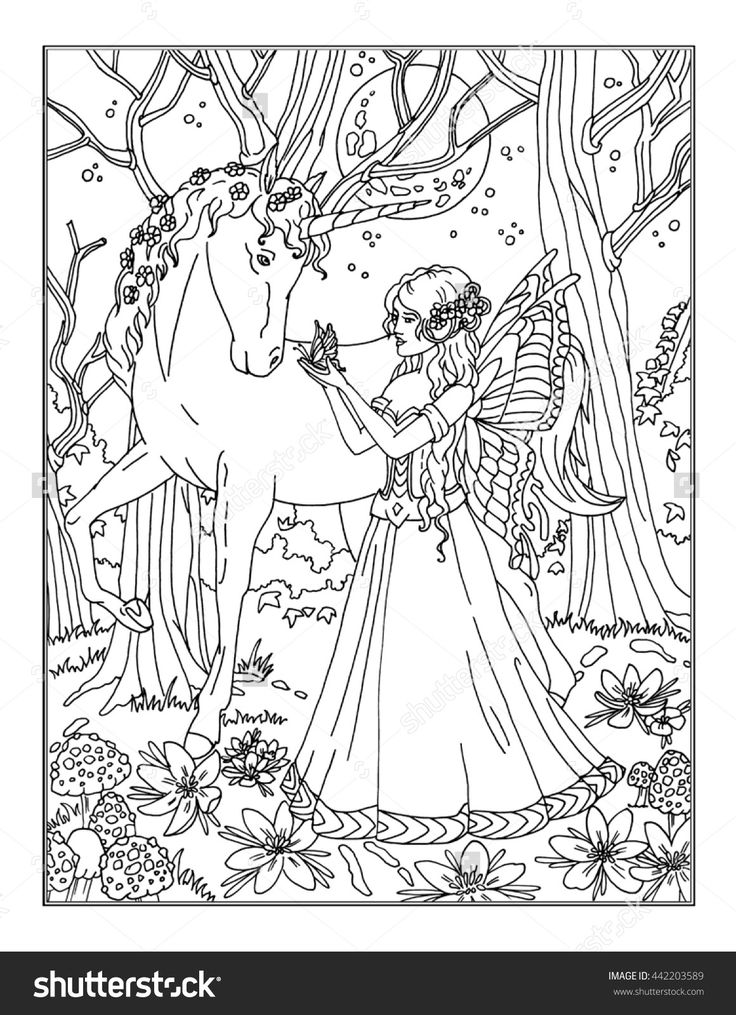 enchanted fairy shutterstock 442203589 - Microbiology Coloring Book