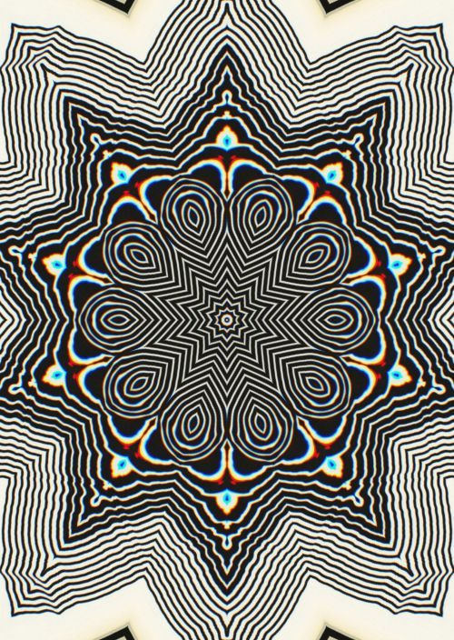 psychedelic designs & graphics in blackandwhite