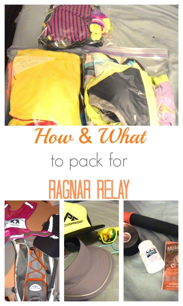 How & What to pack for a Ragnar Relay. A complete list that will ensure you have everything you need for race day
