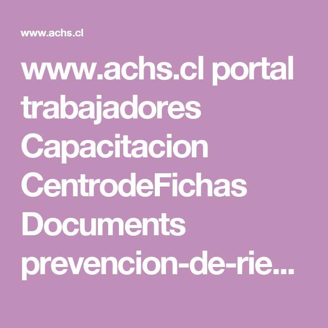 www.achs.cl portal trabajadores Capacitacion CentrodeFichas Documents prevencion-de-riesgos-en-servicios-de-limpieza.pdf