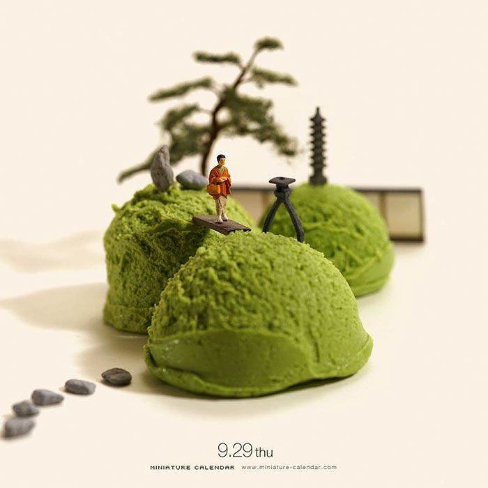 Best Miniature Dioramas Images On Pinterest Years - Japanese artist creates fun miniature dioramas everyday for five years