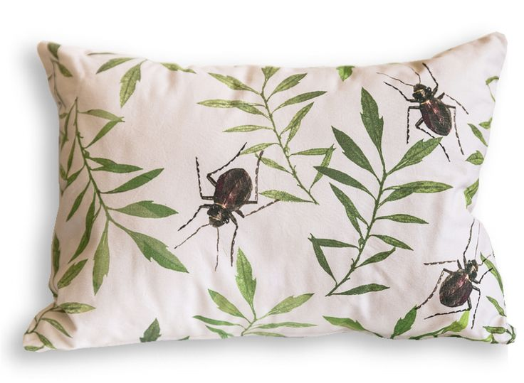 Beetle Cushion - Made in Cape Town. Available online, ships worldwide.  #beetle #cushion #interiordecor #throwpillow