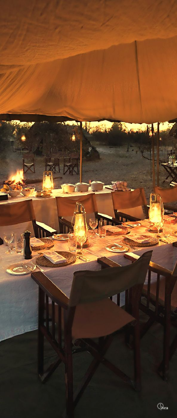 A magnificent dinner set for us. Let's enjoy this time together........