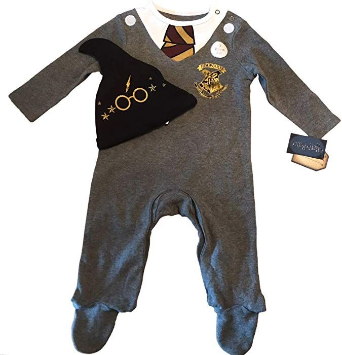 732ded03010c WB Harry Potter Baby Sleepsuit with Hat Hogwarts School Uniform ...