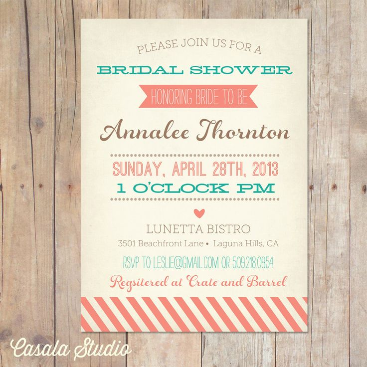 12 best Bridal Shower Ideas images on Pinterest Shower ideas - bridal shower invitation samples