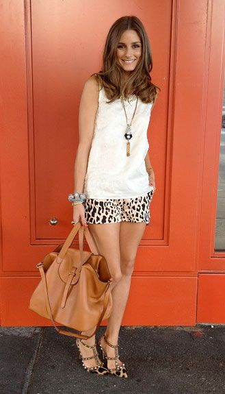 Olivia PalermoOliviapalermo, Fashion Weeks, Style, Outfit, Leopards, Shorts, Animal Prints, Olivia Palermo, Bags