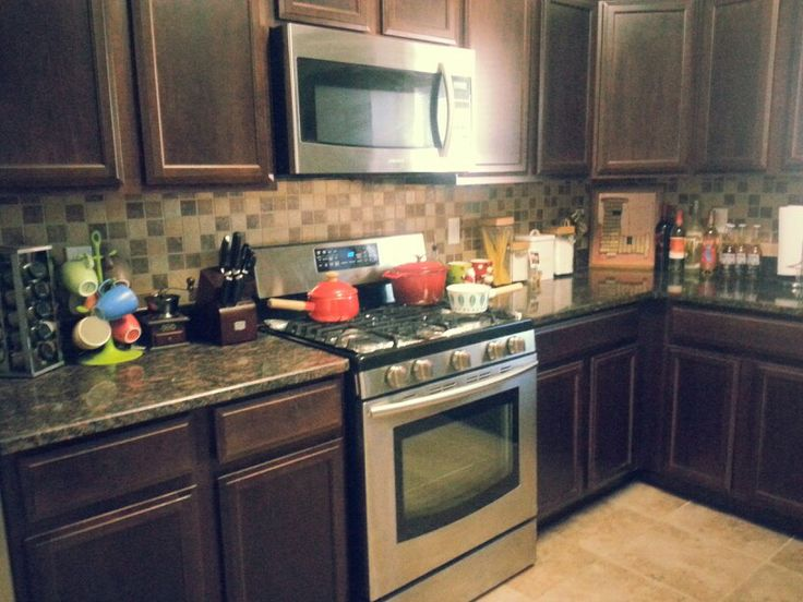 dark kitchen cabinets with brown backsplash kitchens decor dark