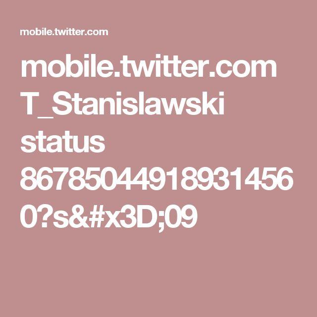 mobile.twitter.com T_Stanislawski status 867850449189314560?s=09