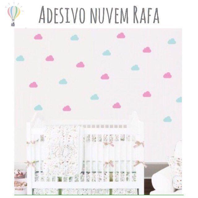Adesivo de parede Rafa! Para quartinhos fofos e atuais. Disponível em várias cores na nossa loja online www.ideiasdemamae.com.br. Você também pode fazer seu pedido e tirar dúvidas pelo email contato@ideiasdemamae.com.br #decoraçãoinfantil #decoraçãocriativa #decoraçãodeparede #quartodebebê #quartodemenina #quartodemenino #adesivodeparede #adesivodenuvem #adesivorafa #nuvem #ideiasfofas #ideiasdiferentes #ideiasdemamãe #lojaonline