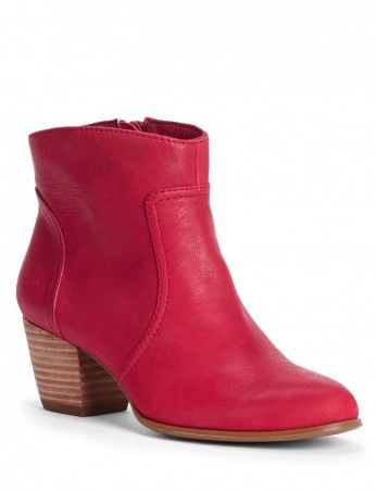 Romy Deep Red Bootie