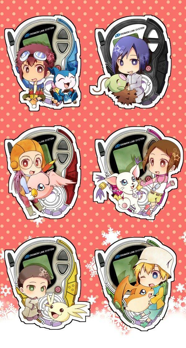 Digimon Adventure 02 chibi charakter