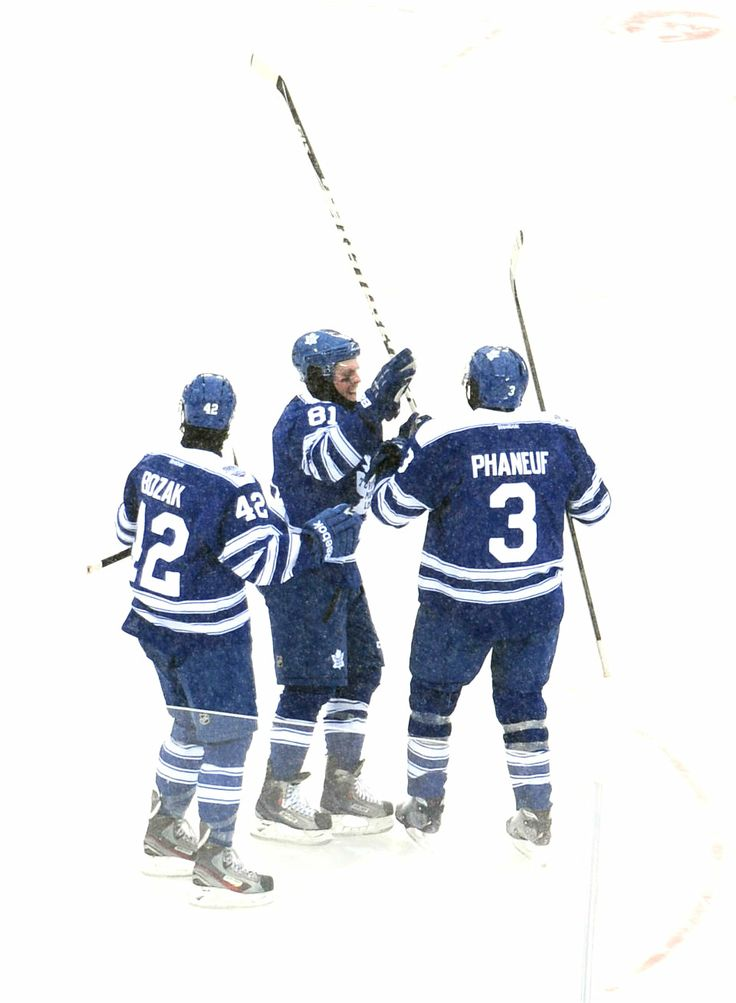 Tyler Bozak, Phil Kessel, and Dion Phaneuf at the 2014 Winter Classic (Source: itshockey / Tumblr)