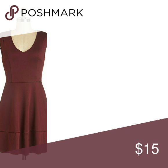 Modcloth Chili powder / maroon skater dress Nwt. Small imperfection on seam around waist. The actual color is closest to Pantone Marsala 2016. ModCloth Dresses