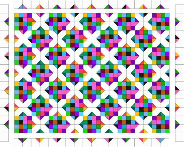 Resultado de imagem para Field of Diamonds Scrap Quilt Pattern