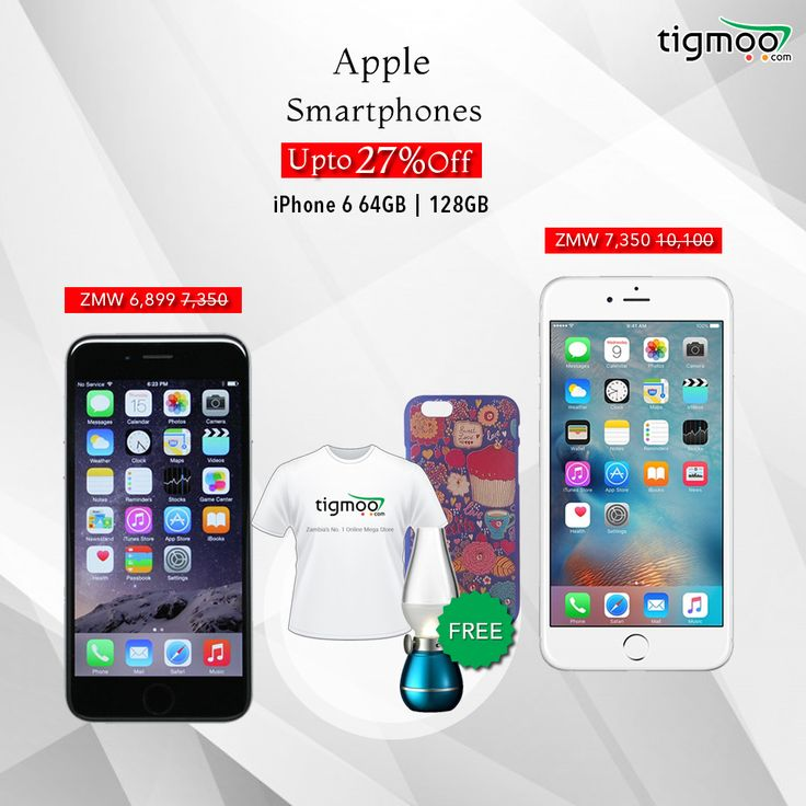 Save up to 27% on #Apple #iPhone at our #Tigmoo Zambia Online Store Hurryup Now! Offer Valid till 31st' Dec https://www.tigmoo.com/electronics/smartphones/apple.html