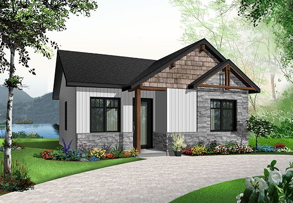Acquiring your first home without breaking your piggy bank, it's possible! This small, affordable modern rustic home design gathers all the essential elements desired by the vast majority of our young customers.