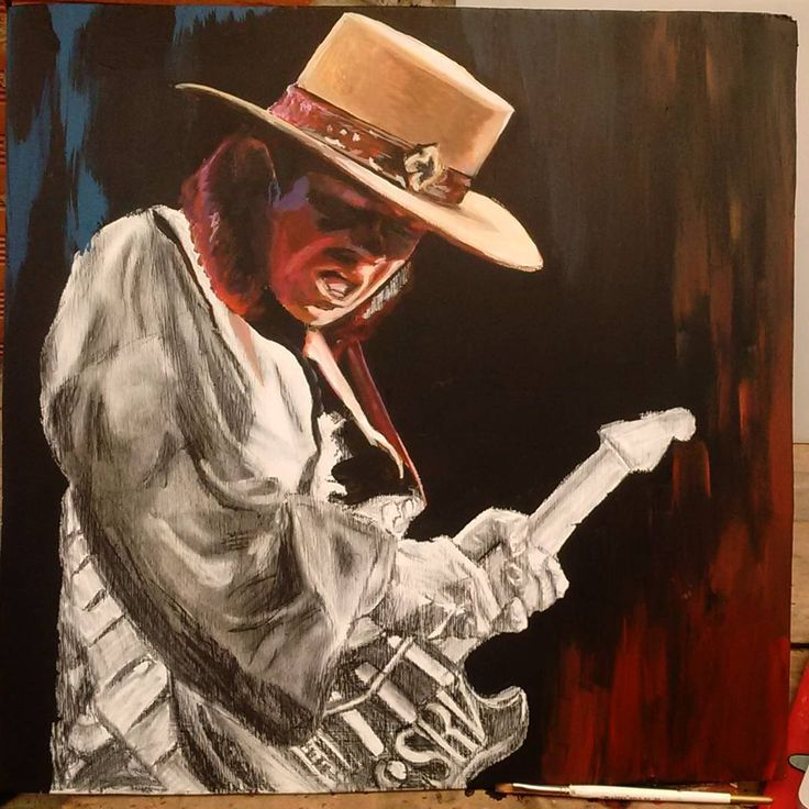 #artwork In excution Acrylic / wood The King of Blues SRV #steverayvaughan 👑🎸🎨 Lets Roll The paint Now!! #artist #illustration #blues  #galleries #life  #instaartist #artstudio #photooftheday #loveit #selfie #instadaily #tattoos #picoftheday  #instacool #rock #music #genre #song #songs  #melody #love #instagood  #goodmusic #instamusic #songwriter #cover #guitar  @elrockescultura @fenderguitars @rock_this_way_ @radionicafm @tattooistartmag @art_collective @allforarts @allforarts…