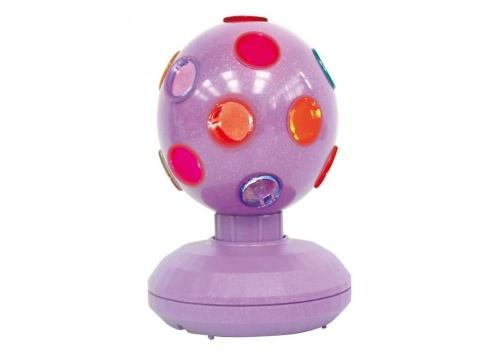 DISCO BALL SILVER 10CM. Palla da discoteca in movimento con luce -funzionamento a pile-color argento