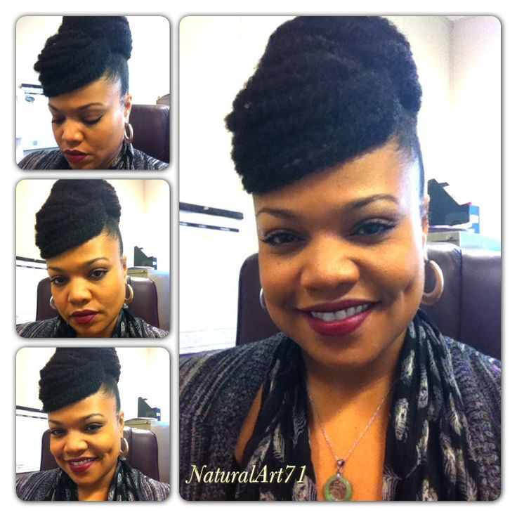 Marley Bun w/Faux Bang tutorial video...protective style
