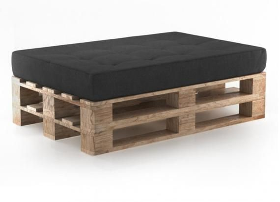 Pallet Cushions Pad Seat Garden Outdoor Furniture Sofa Foam Seat Cover Pad Upholstery Foam Cushion Dark Grey