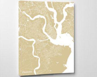 decorative map of charleston, sc - Google Search
