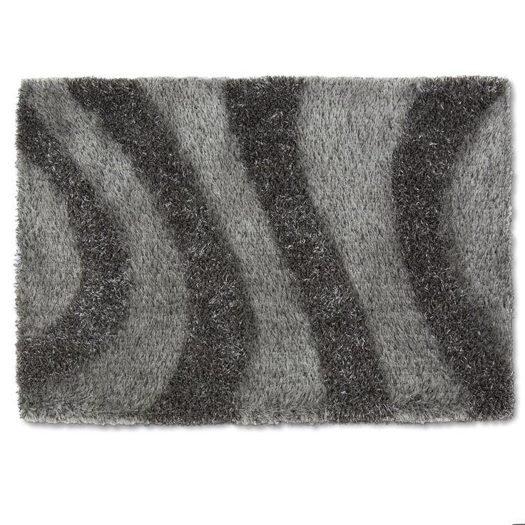 Tapis 160x230cm gris wave les tapis textiles et - Tapis alinea salon ...