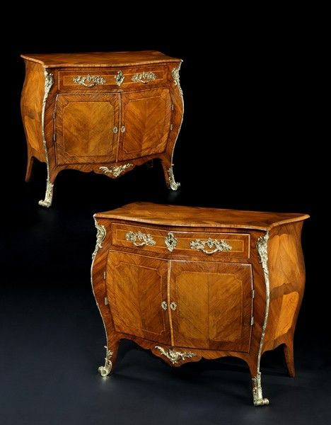 High Quality OnlineGalleries.com   A Pair Of George III Rosewood And Padouk Commodes  Attributed To Pierre